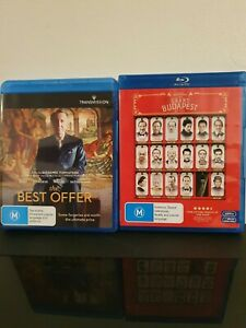 THE BEST OFFER + THE GRAND BUDAPEST HOTEL BLU-RAY  MOVIE DOUBLE FREE POST
