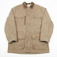 VGC Carhartt Blanket Lined Chore Coat | Mens M | Duck Canvas Parka Vintage Coat