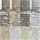 ARTHOUSE RUSTIC STONE EFFECT WALLPAPER - BRICK, MORROCAN WALL, CORNISH STONE