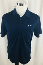 Nike Golf Dri-Fit Blue Golf Polo Shirt Mens Medium M