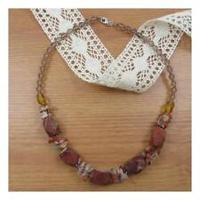 "18""  Jasper Natural Stone Necklace Chunky Healing Festival Statement Yoga 201"