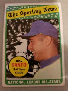 Set Break: Topps 1969 Ron Santo Baseball All-Star Card (#420) in VG/EX Condition