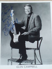 Glen Campbell hand signed 8x10 photo.