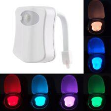 Bright LED Sensor Motion Activated Toilet Bathroom Seat Night Light for Decor