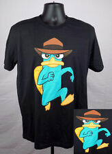 Phineas and Ferb Perry the Platypus Shirt Men's Small Black Shirt New ST95