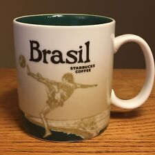 Starbucks Brasil Global Icon Coffee Mug 2012 Football Soccer World Cup Host HTF