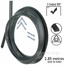 2.85m Silicone Door Seal for DeLonghi 3 Sided Oven Cooker (90º Clips)