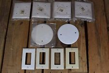 Lot of 10 Gang Outlets and Closure Plates