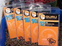 GURU LWG Eyed PTFE Fishing Hook - sizes 12 14 16 18 or 20