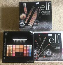 lot of 5 ELF Cosmetics-lip set + Medium Makeup Collection + Rose Gold Glam kit