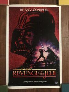 Revenge Of The Jedi  - 1983 Original  Mint Rolled 1sheet Movie Poster - Lucas