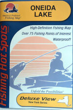 Oneida Lake Detailed Fishing Lake Map, GPS Pts, Waterproof, Depth Contours #S490