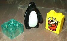 Lego Duplo Zoo Tiere Pinguin Stein durchsichtig  Futter Tierpark  aus 6157 4960