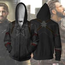 Captain America Hoodie 3D Sweatshirt Zipper Hooded Unisex Jacket Casual Coat Top