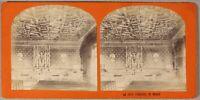 Rouen Cour Di Sedute Francia Foto Stereo PL55L2n Vintage Albumina c1870