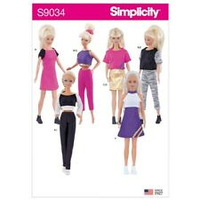 """New Simplicity 9034 pattern 11 1/2"""" Barbie Doll Clothes 6 outfits FREE SHIPPING"""
