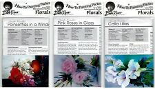 BOB ROSS How-To Painting Packets - Poinsettias, Pink Roses & Calla Lilies