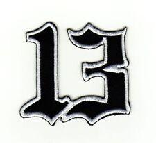 ag35 Lucky 13 Zahl Nummer Aufnäher Bügelbild Patch Applikation Flicken Tattoo