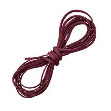 Poliéster 1mm Borgoña Puntilla macramé Encerado Cable Plano/Rosca 1 metros (D54/3)