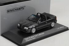 1989 Opel Kadett GSI Cabriolet Cabrio black schwarz metallic 1:43 Minichamps