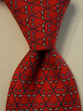 VINEYARD VINES Martha's Boys Youth 100% Silk Necktie Luxury GOLFING Red/Blue EUC