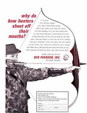 1964 Vintage ad Ben Pearson Bows  Classic Bowhunting!