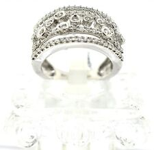 14k White Gold And Diamond Right Hand Ring. Size 7