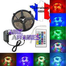 Kit Ruban LED RVB RGB 5m 60LED/m 2835 + Alimentation 2A+ Télécommande 24 touches