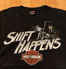 Harley Davidson Motorcycles Shift Happens Olathe Kansas T-Shirt Men's XL NEW