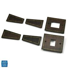 1978-1984 Cutlass Burlwood w/ Gold Trim Power Window Switch & Pull Strap Cover