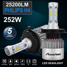 Philips H4 Pair 252W 25200LM LED Headlight Kit Bulbs Conversion High/Low Beam