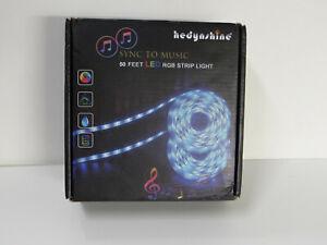 HEDYNSHINE 50 FT LED RGB STRIP LIGHT SYNC TO MUSIC
