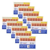 10XGAPADENT Dental Gutta Percha Points 0.04 20# Color Coded CE 60 Points/Kit
