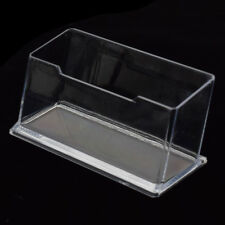 Acrylic Clear Desktop Business Card Holder Stand Display Dispenser Office