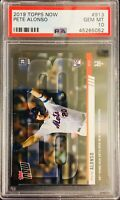 """PSA 10/ GEM-MT! 2019 Topps Now PETE ALONSO """"Rookie HR Record"""" SP Rookie #913!"""