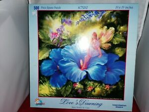 Sunsout 500 piece jigsaw puzzle - Love's Dawning in complete good condition