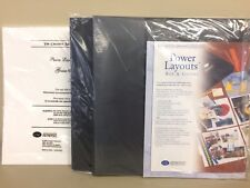 New Creative Memories Power Layout Box w/15 Pack of Guides organizing