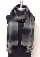 100 % cachemire d Ecosse écharpe homme laine chaude bicolore camaieu de gris 0afb568a27b