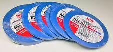 "1/8""(4),1/4""(2) Blue Fine Line Adhesive Tape Lot, 6 rolls total,  Hystik"
