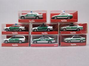 Herpa 1:87 8 x Polizei Opel MBC BMW in OVP 2 044899