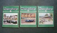 Lot 3 Issues 1966 Vintage England UK F-1 Auto Car Racing MOTORSPORT MAGAZINES
