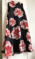 Dress PERCEPTIONS New York Floral Black And Red UK Size 12-14