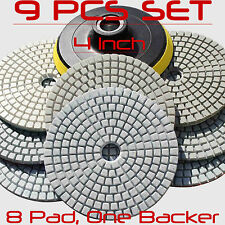 Diamond Polishing Pads 4 Inch Wet Dry Set Kit For Granite Concrete Marble Polish