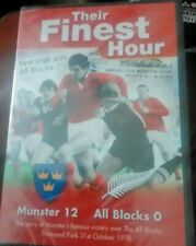 Their Finest Hour Munster 12 All Blacks 0 The Story of Munsters win 1978 new