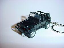 HOT 3D BLACK JEEP WRANGLER CUSTOM KEYCHAIN keyring key 4x4 offroad sahara 1987