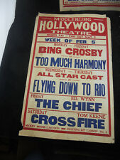 Original 1934 MOVIE THEATRE MARQUEE Poster Middleburg VA Red Fox Hollywood B