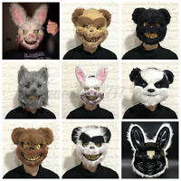 Halloween Scary Horror Face Mask Bloody Masquerade Animals Cosplay Costumes Prop