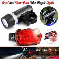 5 LED Waterproof Bike Bicycle Cycling Front And Rear Tail Light Set