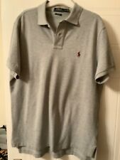 Polo by Ralph Lauren short sleeved polo in grey, custom fit in large
