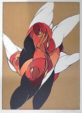 Wolff BUCHHOLZ Lithographie Signée au crayon de 1969 Figure Rouge 61x41cm